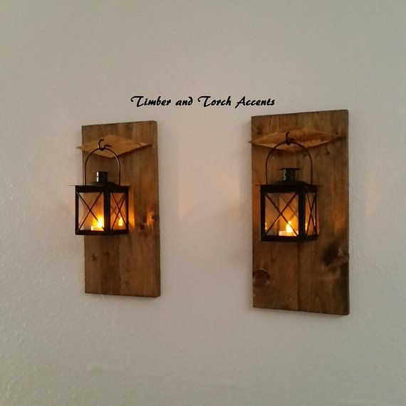 RUSTIC WOOD /& METAL WALL SCONCE 4 PRIMITIVE Distressed COUNTRY Finishes 2 Candle