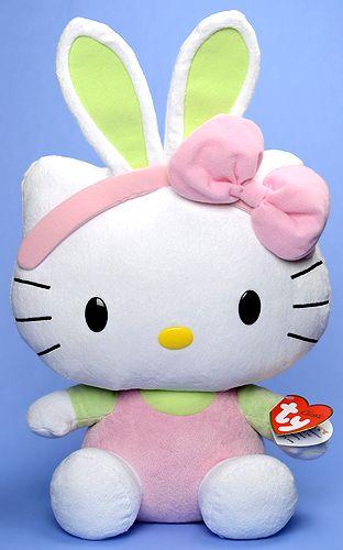 TY Classic Hello Kitty 15 inch Green Ears~
