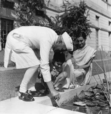 RAJIV GANDHI: RARE & UNSEEN PHOTOS October 28, 1950: India's first Prime Minister Pandit Jawaharlal Nehru (1889 - 1964) with his daughter Indira Gandhi (born Indira Priyardarshini Nehru, 1917 - 1984), and his grandson, Rajiv (1944 - 1991).