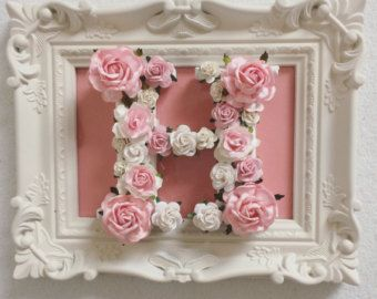 Regalos de encargo floral carta //baby / decoración de la boda