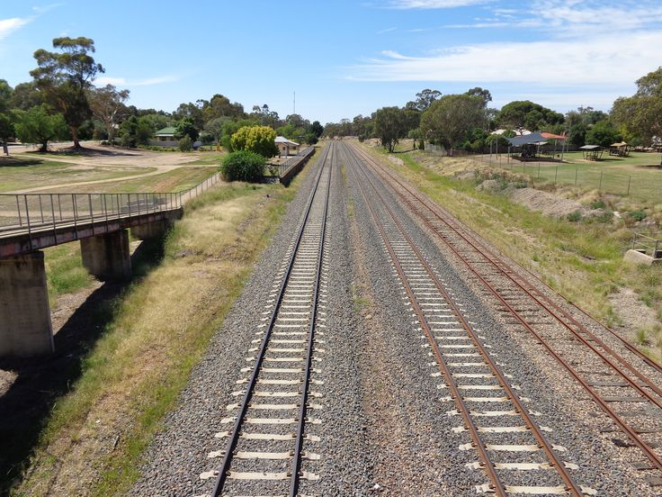 View from railway bridge at glenrowan. In Neds day the bridge didn't exist. There was only the gate masters house and the gate