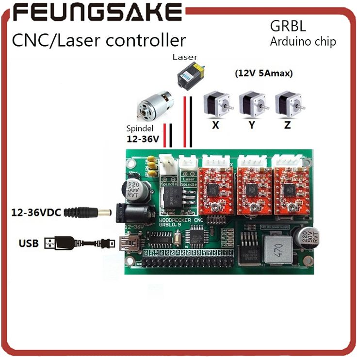 32.58$  Watch now - http://aliyma.shopchina.info/1/go.php?t=32813999742 - USB 3 axis DIY carving machine control board,cnc GRBL arduino controller Laser engraver control board Driver Board Controller  #bestbuy
