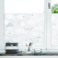 Daydreaming window screen film silver - silver-frosted - Siluett Frost