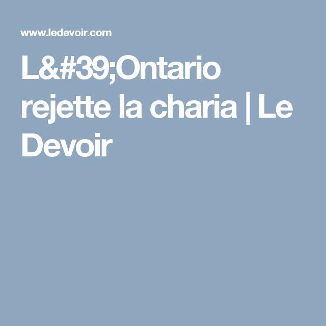 L'Ontario rejette la charia | Le Devoir