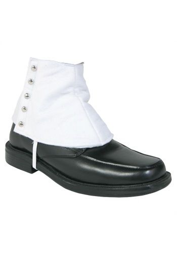 These Gangster Shoe Spats are a must-have accessory for a traditional 1920's costume. Sharp and stylish they're the perfect accessory to complete your look. They are John Dillinger approved!
