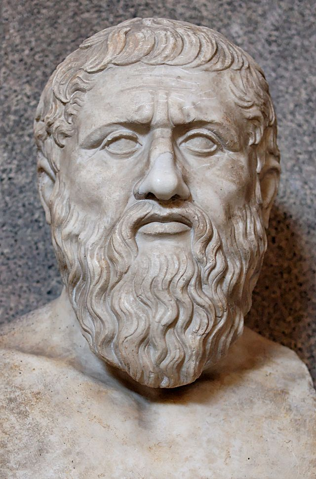 BUST OF PLATO......PLATON........ROMAN COPY OF A GREEK ORIGINAL OF THE LAST QUARTER OF THE FOURTH CENTURY BC. AD.........SOURCE WIKIPEDIA.ORG...........