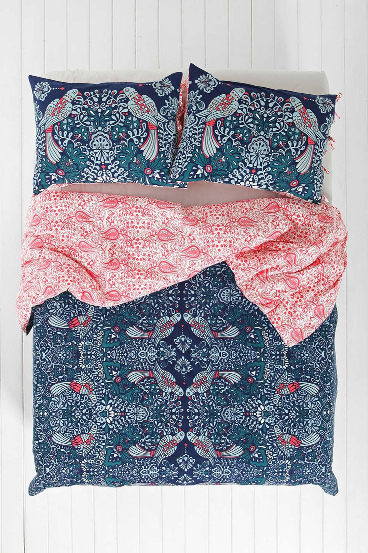 Plum & Bow Mirrored Love Birds Duvet Cover - Urban Outfitters