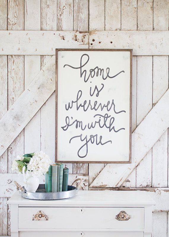 home is wherever i'm with you framed sign by Aedriel & TheHouseofBelonging