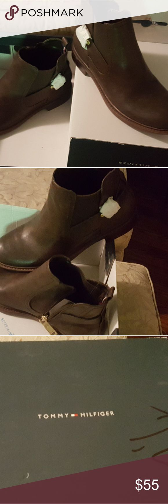 Tommy Hilfiger ankle boots Brand new.   Chocolate espresso color Tommy Hilfiger Shoes Ankle Boots & Booties