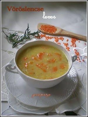 Gesztenye receptjei: Vöröslencse leves