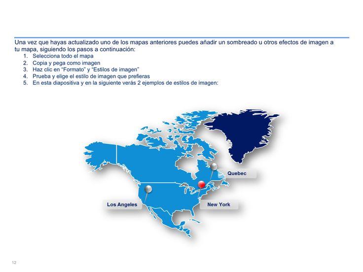 mapa interactivo de Norteamérica en PowerPoint