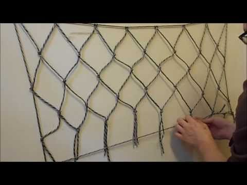 ▶ How to make a net using paracord or any other cordage - YouTube