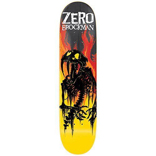 Zero From Hell Series Imp Light Skateboard Deck James Brockman 8.5: Zero Skateboard Team Deck Zero From Hell Series Imp Light Skateboard…