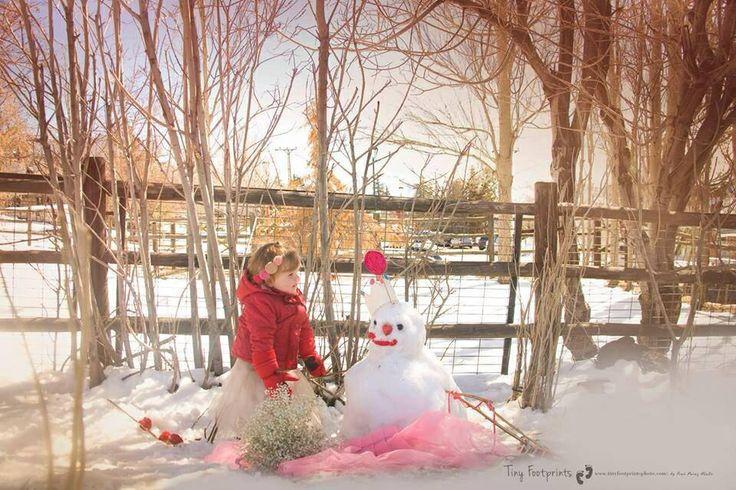 Un muñeco de nieve TinyFootprints & hacer.a.mano