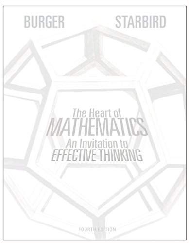 Solution Manual for The Heart of Mathematics An Invitation