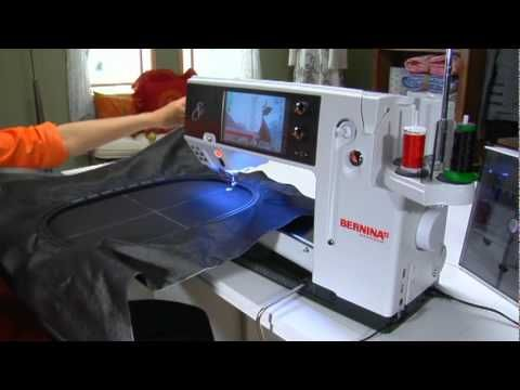 18/21 BERNINA 830 sewing machine video instructions: Jumbo Hoop -- USB stick - YouTube