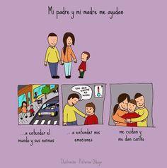 Dibujos para niños con T.E.A. y sus padres.: Cómo reacciono ante un cambio de actividad