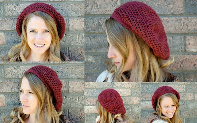 crochet beret - Lovely pattern - easy to follow. Have made a few now in different colours. Fit very well.