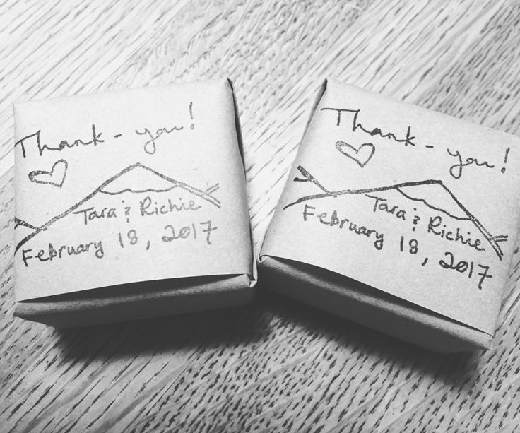 Custom stamped wedding favours. Order now at thelemonsquare.ca