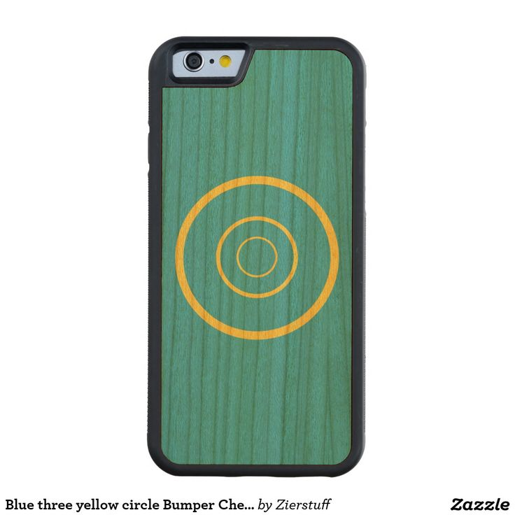 Blue three yellow circle Bumper Cherry Carved® Cherry iPhone 6 Bumper Case