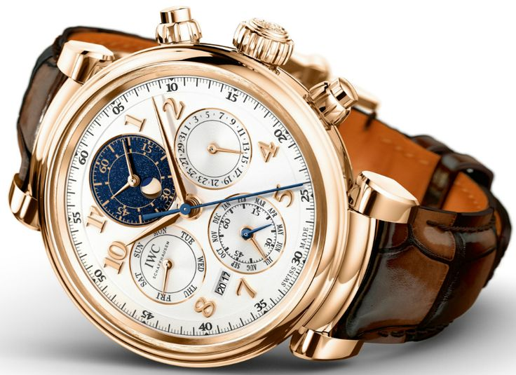 """IWC Schaffhausen Da Vinci Perpetual Calendar Chronograph Watch Marks Return Of Round Da Vinci Case - by Michael Penate - Read more at: http://www.ablogtowatch.com/iwc-da-vinci-perpetual-calenda…/  """"IWC has proven that they aren't afraid to tap into their illustrious past to bring us some amazing watches. For SIHH 2017, it's safe to say that they're bringing out the big guns by completely revisiting their Da Vinci collection..."""""""