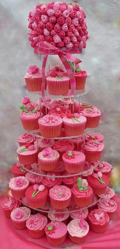Rose Cake + Cupcakes.