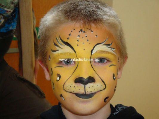 Easy Cheetah Face Paint Pin face