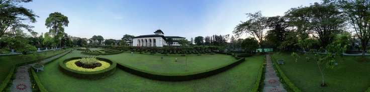 Gedung Sate, is a neo-classical building mixed with native elements that now serves as the governors office of the West Java province in Indonesia. Located in Bandung, the building was designed by a Dutch architect J. Gerber. Its common name, Gedung sate, is a nickname that translates literally from Indonesian to satay building, which is a reference to the shape of the buildings central pinnacle - which resemble the shape o...