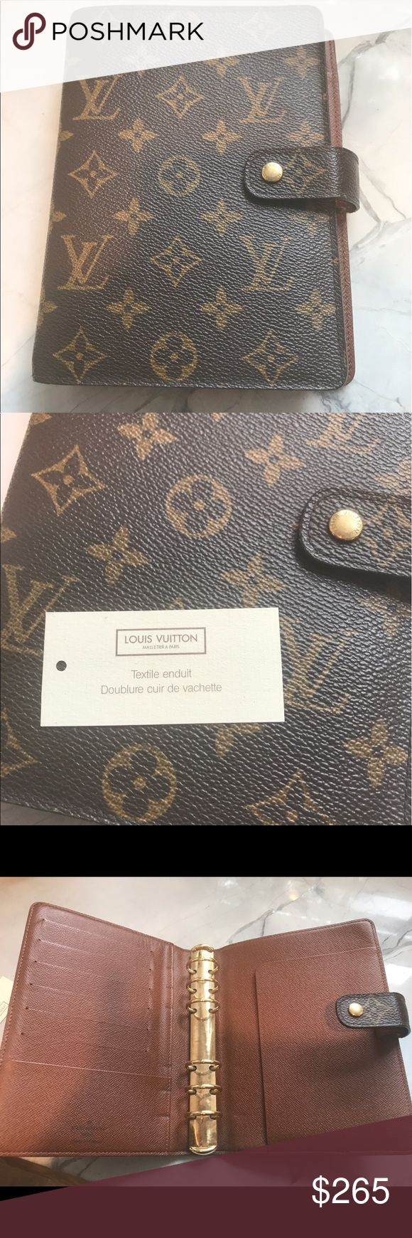 Authentic Louis Vuitton medium size planner Authentic Louis Vuitton monogram planner. Size medium. Rarely used. Great condition Louis Vuitton Accessories