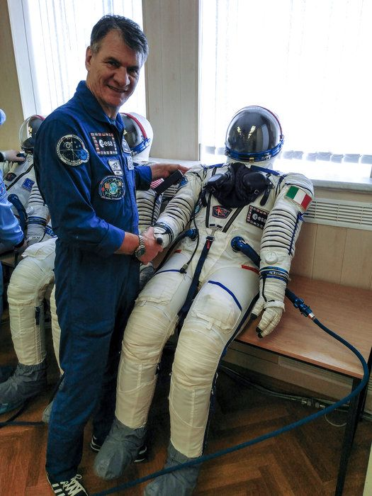Worn by every astronaut in a Soyuz vehicle, the Russian Sokol provides protection in the event of an air leak. The suit is tailor-made for each astronaut and is intended for life support only inside Soyuz.