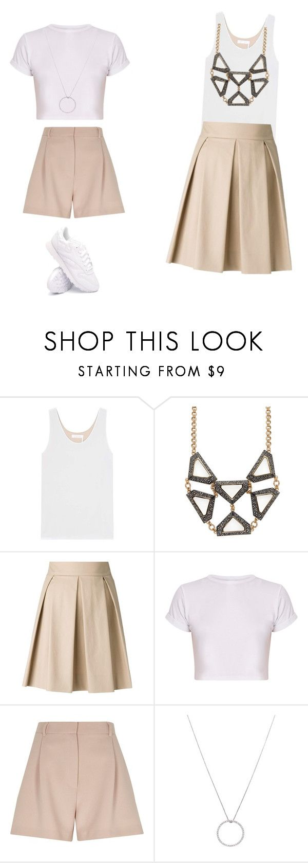 """""""Untitled #34"""" by galda ❤ liked on Polyvore featuring Chloé, Lulu Frost, Boutique Moschino, River Island, Roberto Coin and Reebok"""