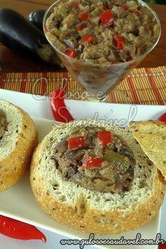 Esta Pasta de Berinjela é uma dica deliciosa, perfeita para receber amigos ou simplesmente para um #lanche! #Receita aqui: http://www.gulosoesaudavel.com.br/2012/01/30/pasta-de-berinjela/
