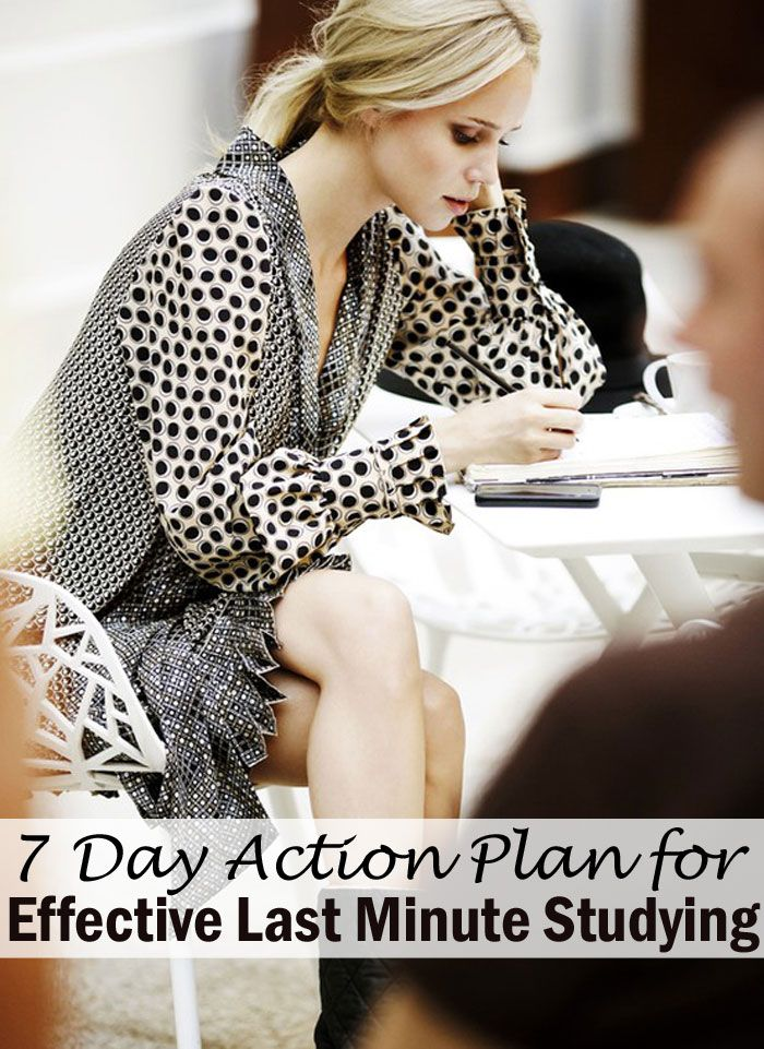 Super Achiever Mentality: 7 Day Action Plan for Effective Last Minute Studying
