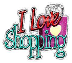 Ik hou van shoppen.