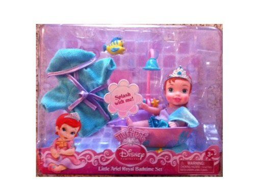 My First Disney Princess Little Ariel Royal Bathtime Set by Jakks. $25.93. Miniature Flounder. Baby Bath Robe. Baby Towel. Baby Ariel. It's Playtime with your Princess!  Splash with Baby Ariel!