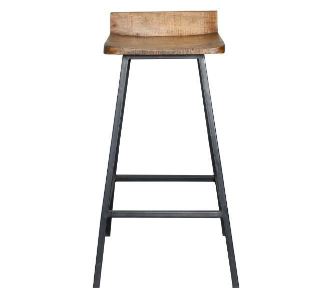 Counter Stools With Backs Bar 30 Inches Low Back Metal Mahogony Wood #Kosas…