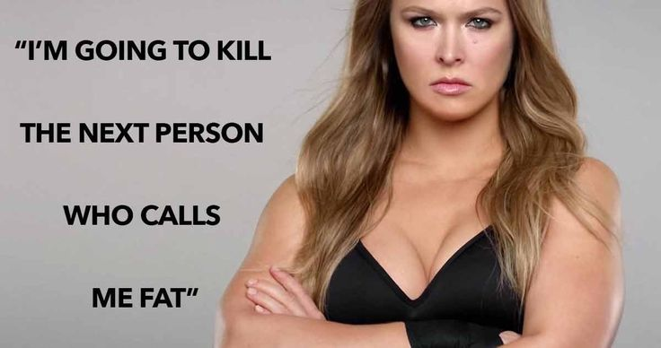 Ronda Rousey wants people to stop calling her fat.