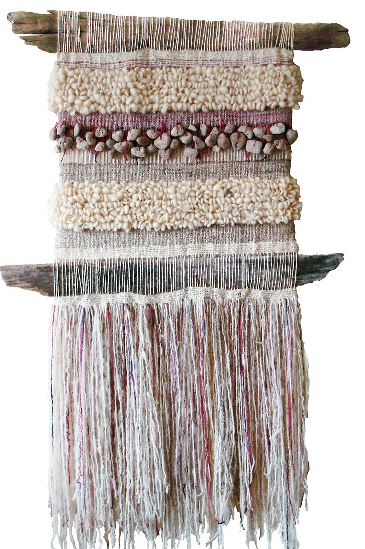 Marianne Werkmeister..would be beautiful way to use my beach finds on a small fine thread needle weaving loom