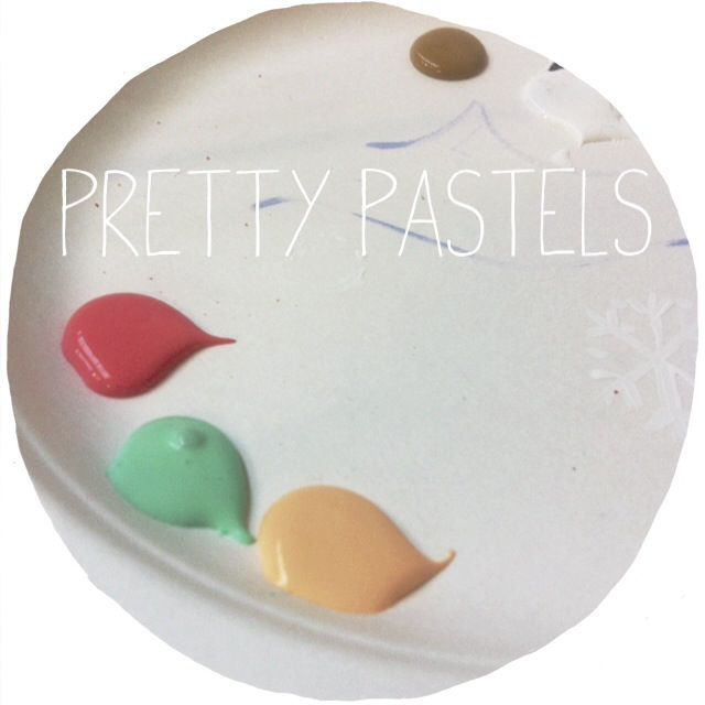 Love this colour palette. Mint, raspberry and peach. Pretty pastels!