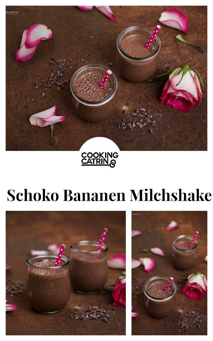 Schokobananen Milchshake, Milchshake, milkshake, chocolate milkshake, banana milkshake, Schoko Milchshake, Bananen Milchshake, Frühstück, breakfast, drink, Getränk, healthy, vegan, gesund...http://www.cookingcatrin.at/schoko-bananen-milkshake/