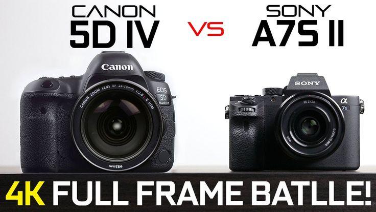 Canon 5d mark iv vs sony a7s ii full frame 4k camera