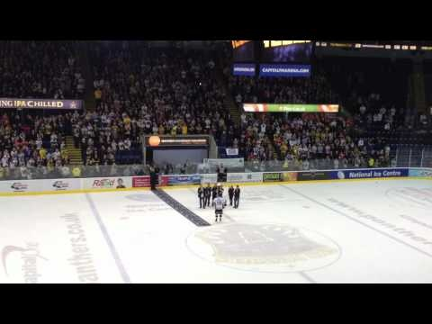 Challenge Cup Final 2nd Leg Action - Nottingham Panthers Captain Danny Meyers Lifts the Cup