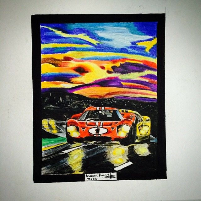 Drawing of 24hours du Mans