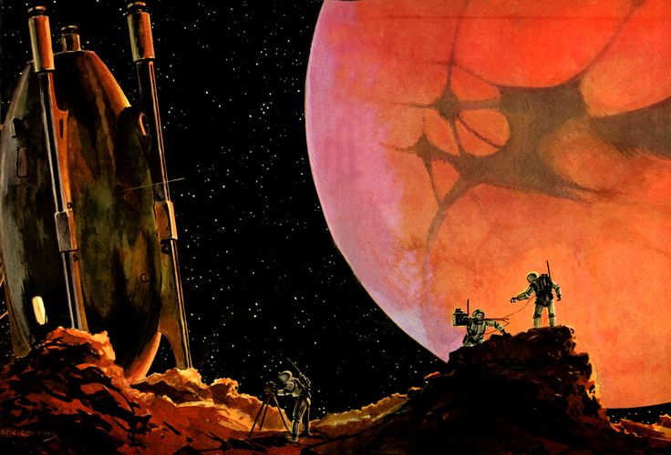 All sizes   MARS from the Moon PHOBOS - Illustration by Jack COGGINS (1951)   Flickr - Photo Sharing!