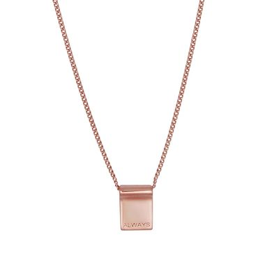 Nicole Fendel Love Always Necklace Rose Gold