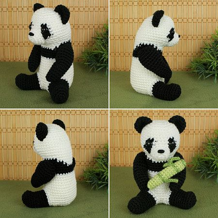giant panda amigurumi crochet pattern by planetjune