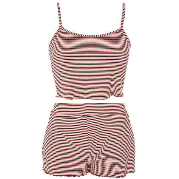Women's Topshop Striped Pajamas ($38) ❤ liked on Polyvore featuring intimates, sleepwear, pajamas, striped pjs, striped pajamas, topshop pyjamas, striped pyjamas and topshop pjs