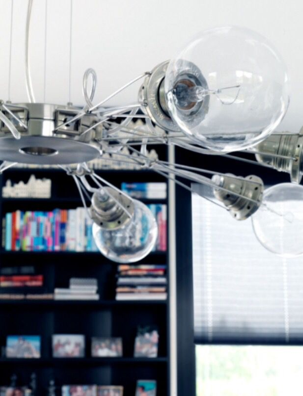"""This modern chandelier is from our feature """"Dreamweavers on Water"""""""