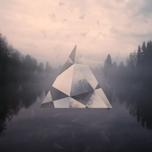 #diamond #triangle #river # #forest #poster #clouds
