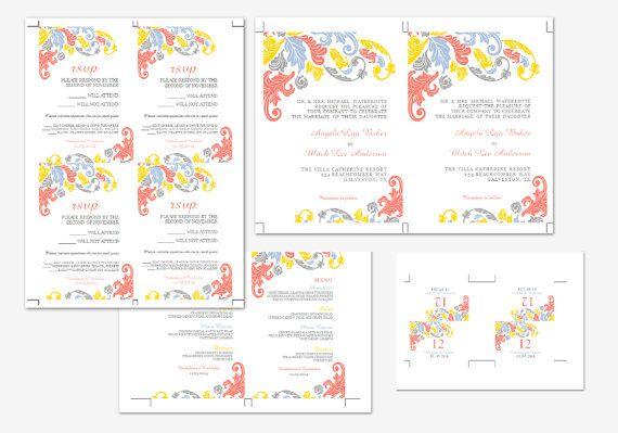 Printable MS Word Wedding Package Template  Instant by Inkpower, $30.00